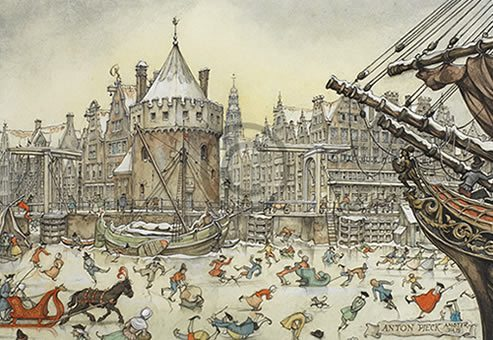 Anton Pieck - schaatsen - Orange Licensing