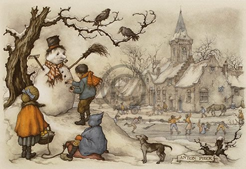 Anton Pieck - sneeuwpop - Orange Licensing