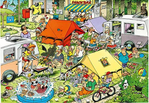 Orange Licensing - Jan van Haasteren - camping