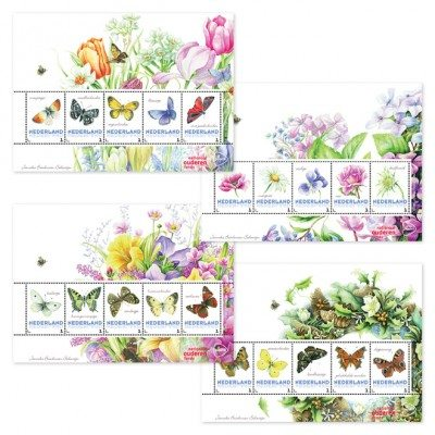 Postzegels seizoenen Janneke Brinkman
