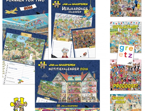 Jan van Haasteren nu ook op wenskaarten en kalenders