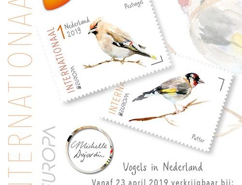 Nieuwe postzegels Michelle Dujardin