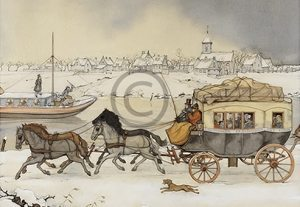 Anton Pieck - paard en wagen - Orange Licensing