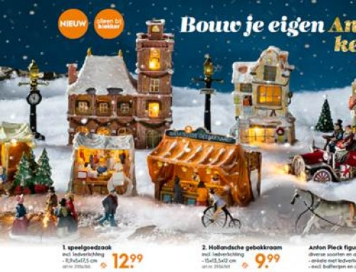 Bouw je eigen Anton Pieck kerstdorp!
