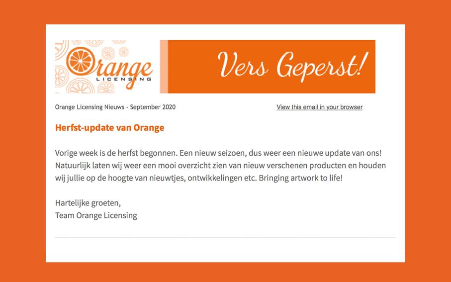 Herfst update 2020 Orange Licensing