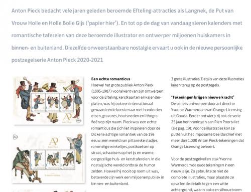 Nieuwe postzegelserie 'Anton Pieck in detail'